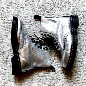 Dr. Martens Pascal Metallic Leather Combat Boots